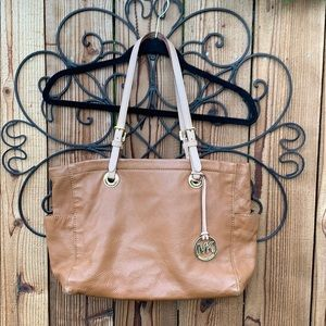 MK brown leather handbag